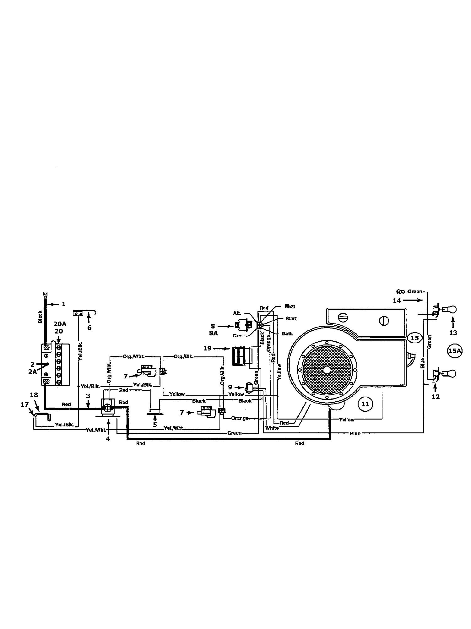 Gutbrod Sprint 1500 Schaltplan Einzylinder 04200.05 (1996)