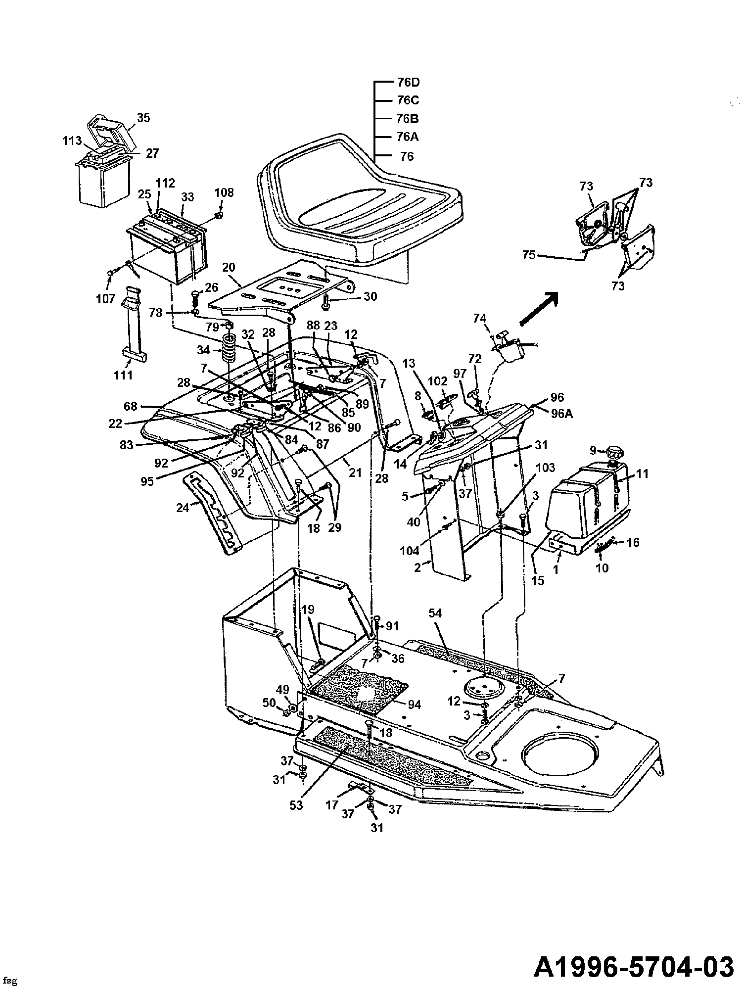 Mtd b 10 batterie sitz sitzwanne tank 136c451d600 1996 for Batterie pour autoportee mtd