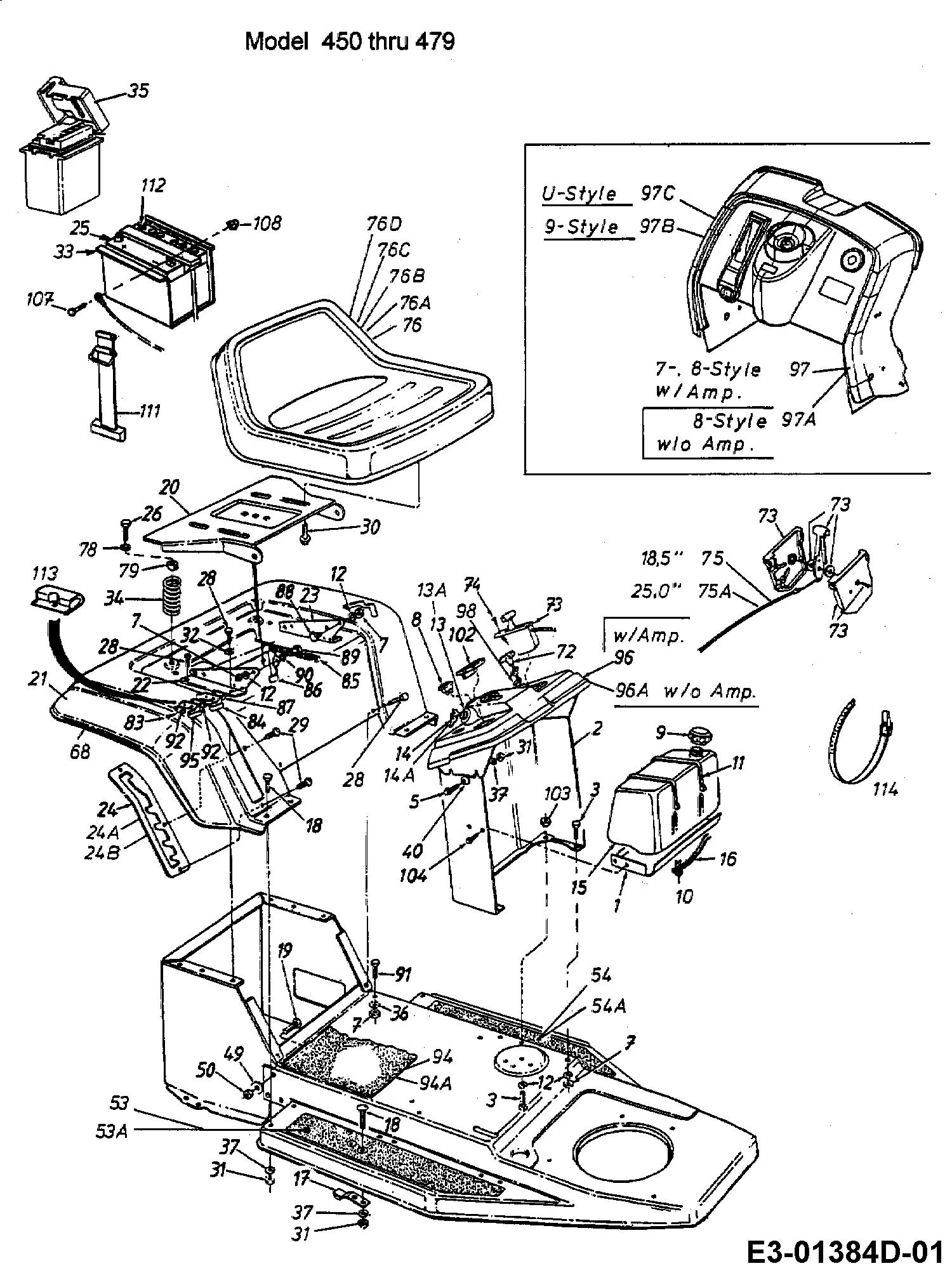 mtd rh 115 armaturenbrett sitz tank 13a1451c600 1998. Black Bedroom Furniture Sets. Home Design Ideas
