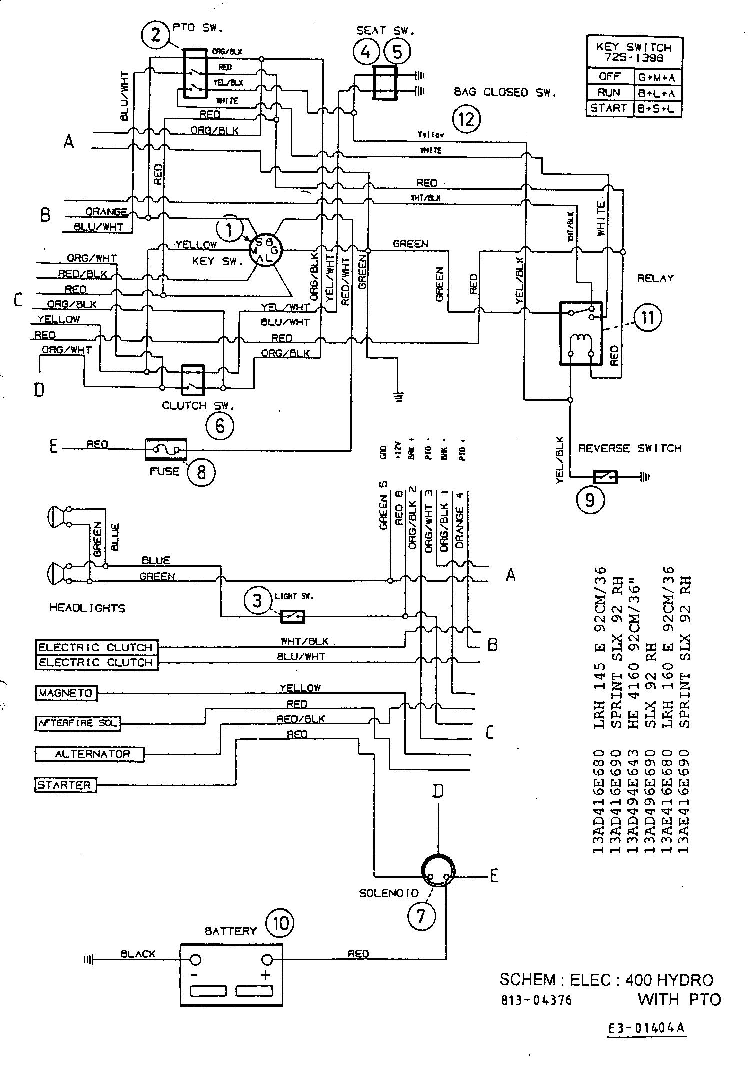 Yard-Man HE 4160 Schaltplan 13AD494E643 (1999)