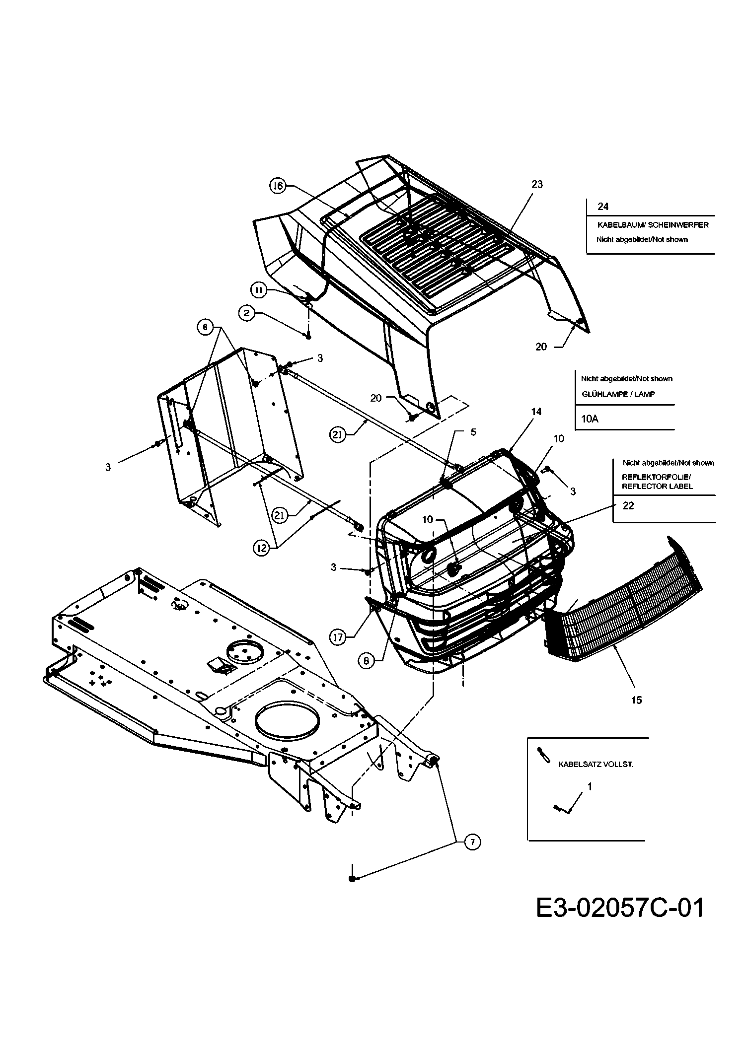 mastercut mastercut 92 155 bis 2016 motorhaube 0 style. Black Bedroom Furniture Sets. Home Design Ideas