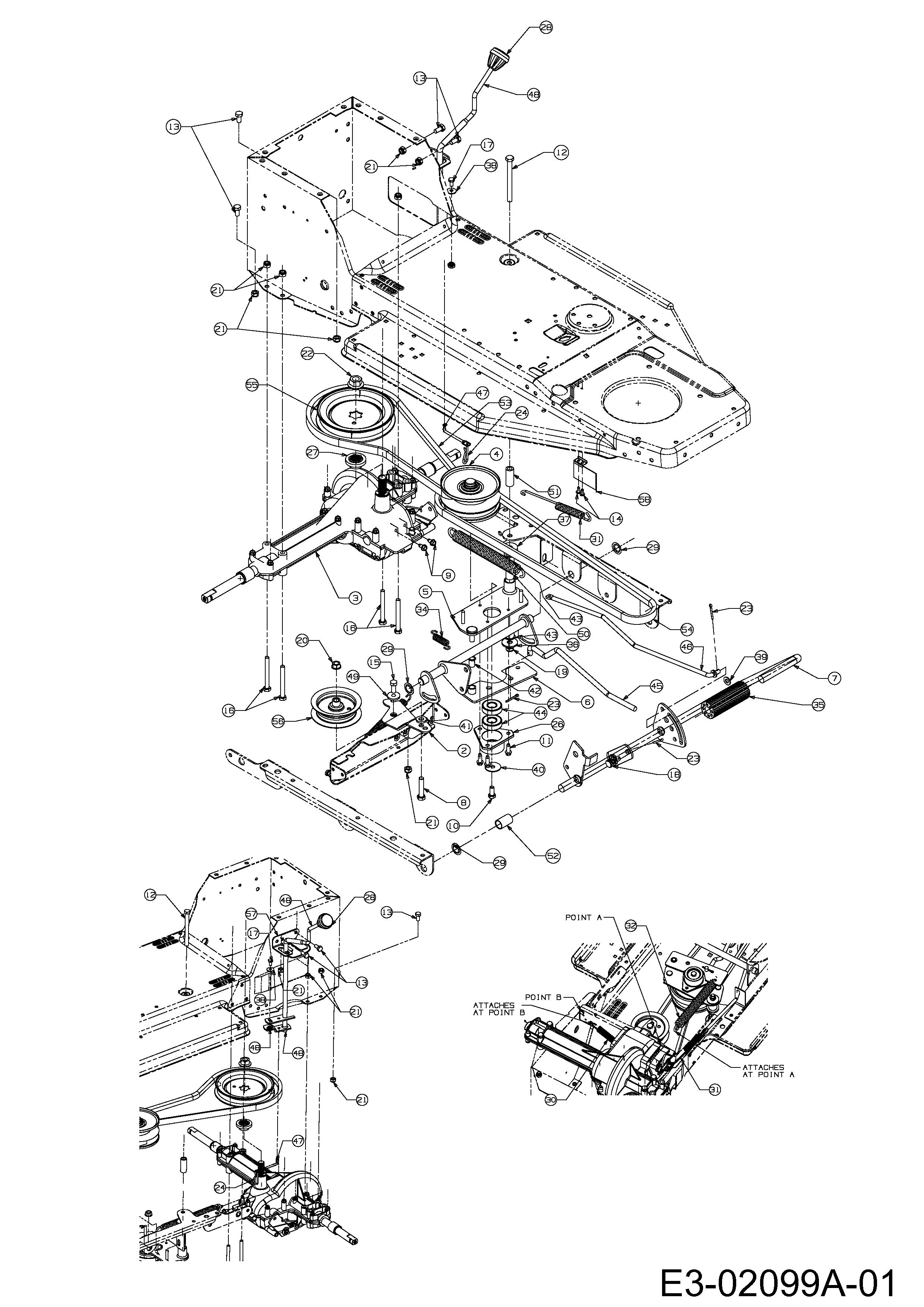 Keilriemen Fahrantrieb am Motor passend MTD B 135 13BA668F678 Rasentraktor