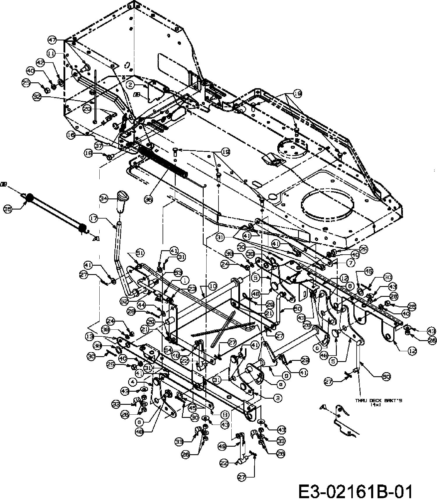 MTD B/115 Mähwerksaushebung 13DH458D678 (2007)