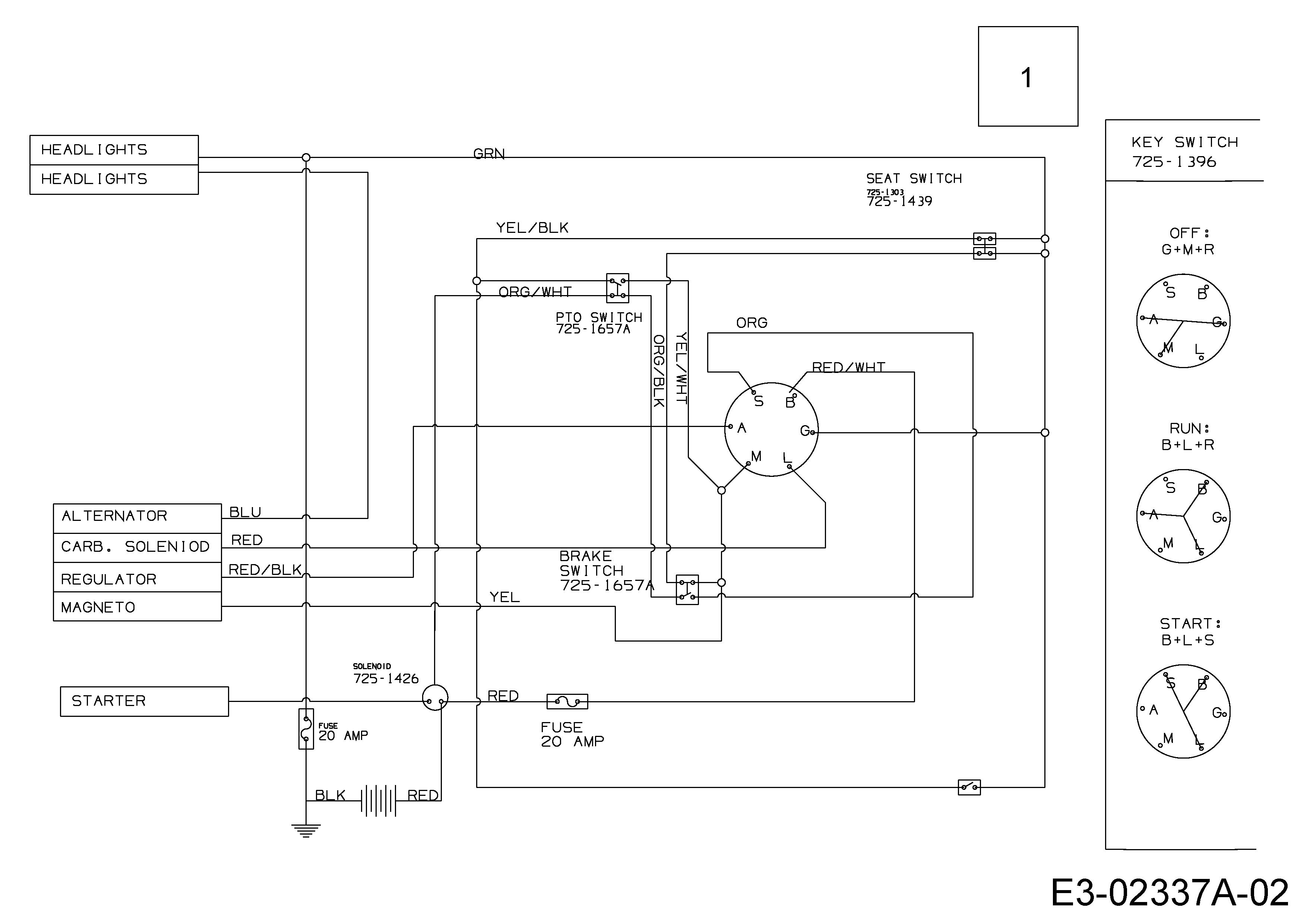 Stiga 12,5-96 Schaltplan 13AC660F647 (2005)