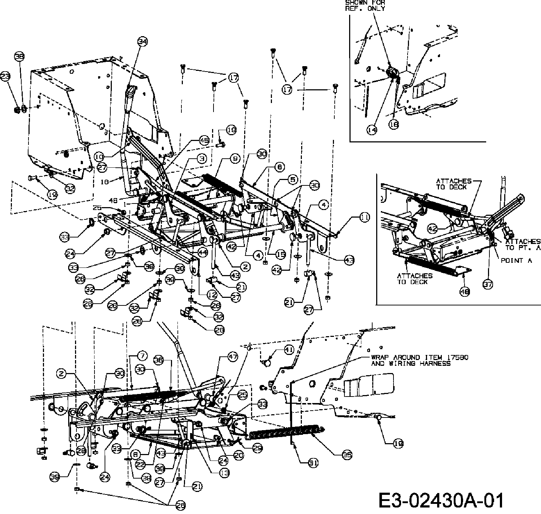 MTD RH 115/76 Mähwerksaushebung - 13D1452C400 (2006)