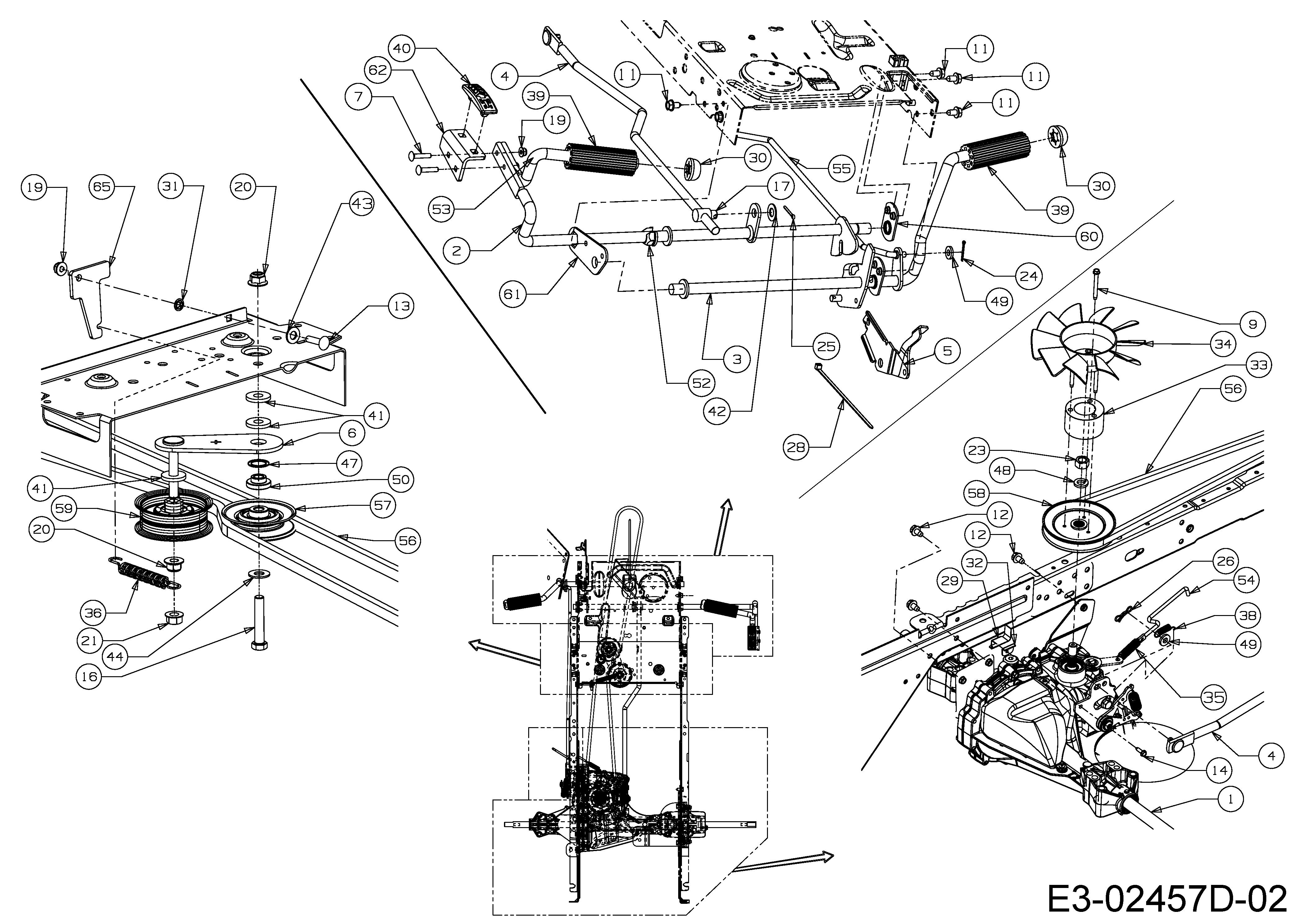 Keilriemen Messerantrieb Original Ersatzteil Cub Cadet Traktor CC1023 HNK