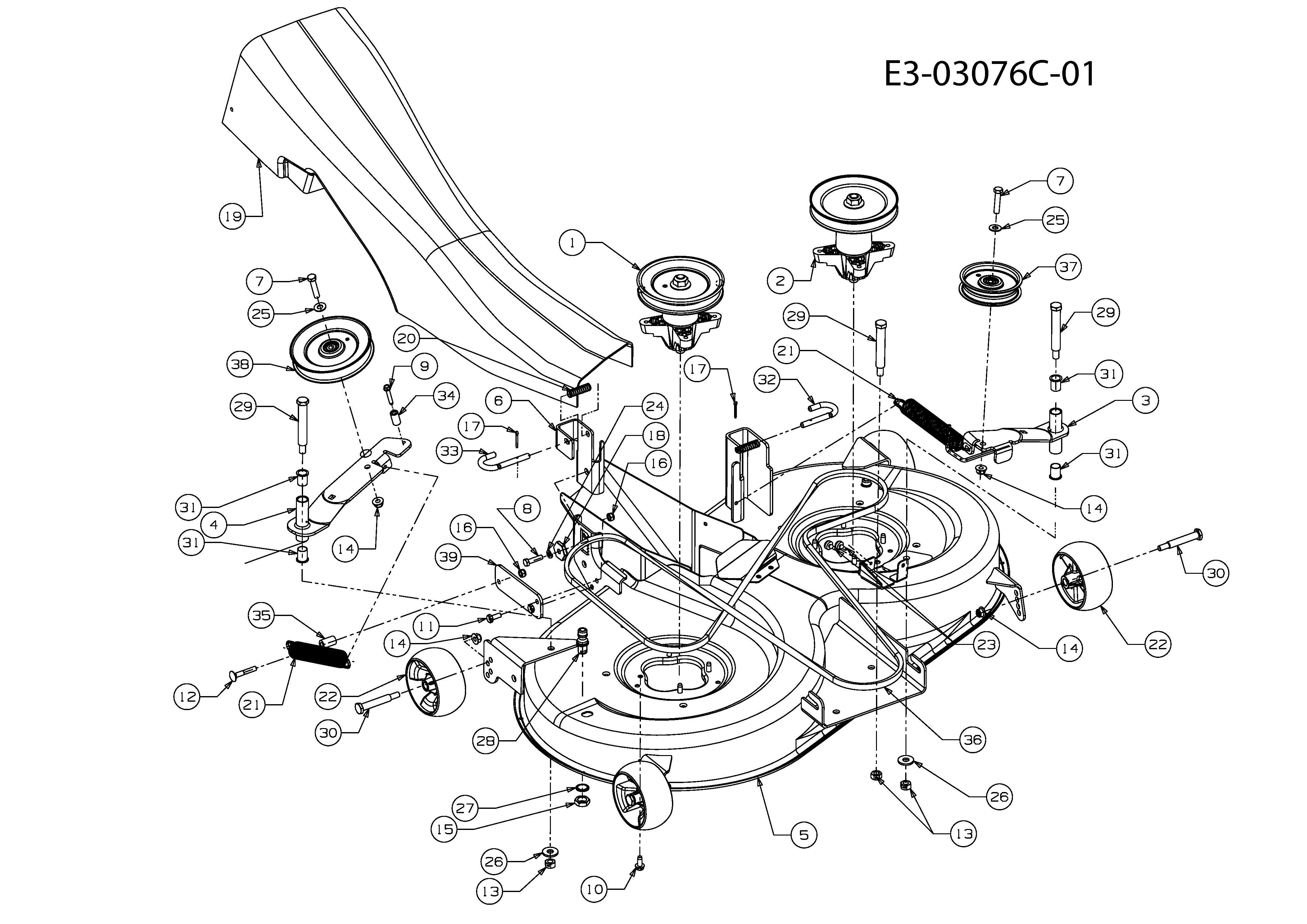 Keilriemen Mähwerk passend MTD JN 175 H 13BN493N676 Rasentraktor