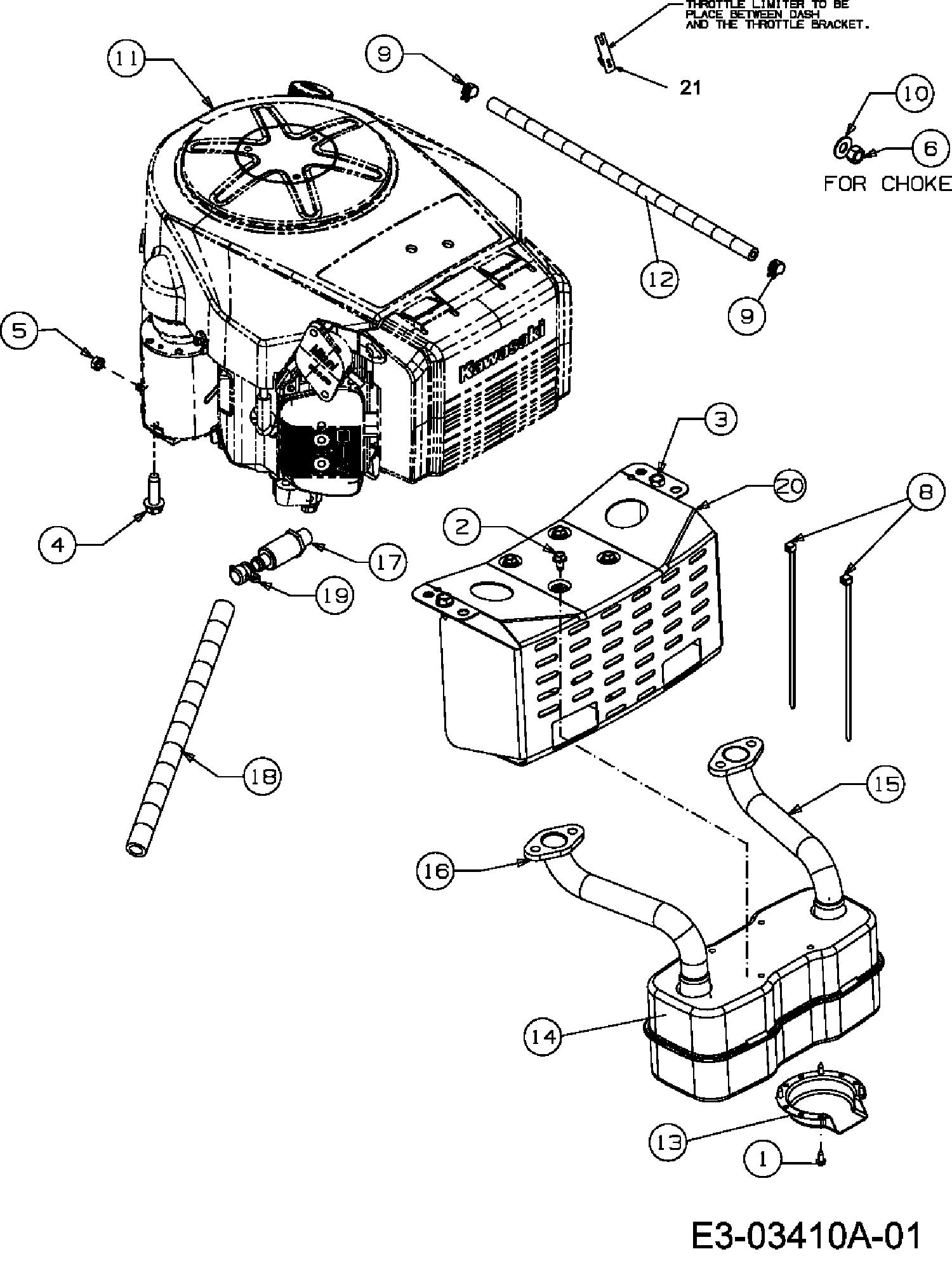 Yard-Man AN 5150 K Motorzubehör 13BI504N643 (2007)
