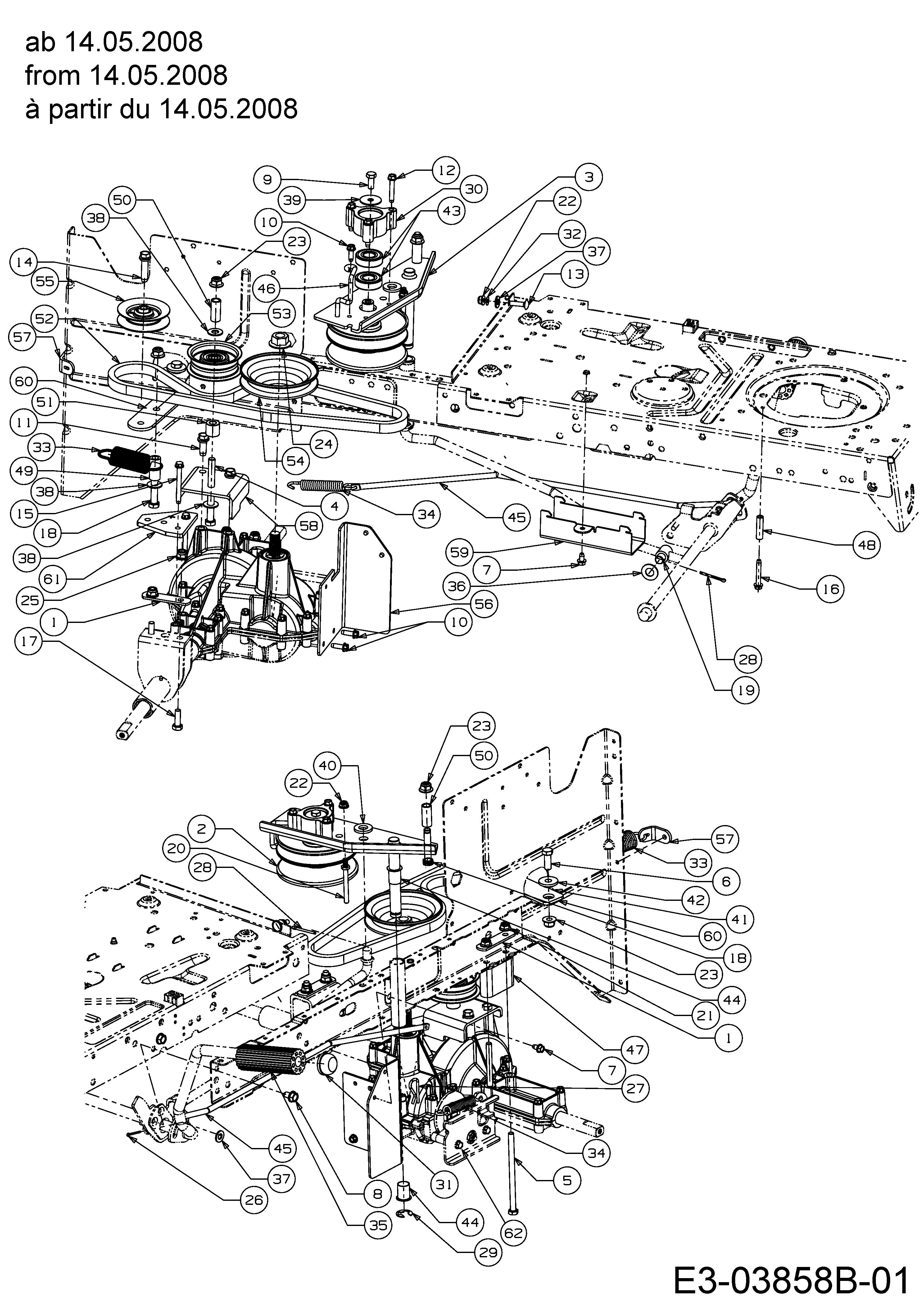 Mähwerk 13AM77TE620 Keilriemen für Variolux V-RTH 155//92 T 2009