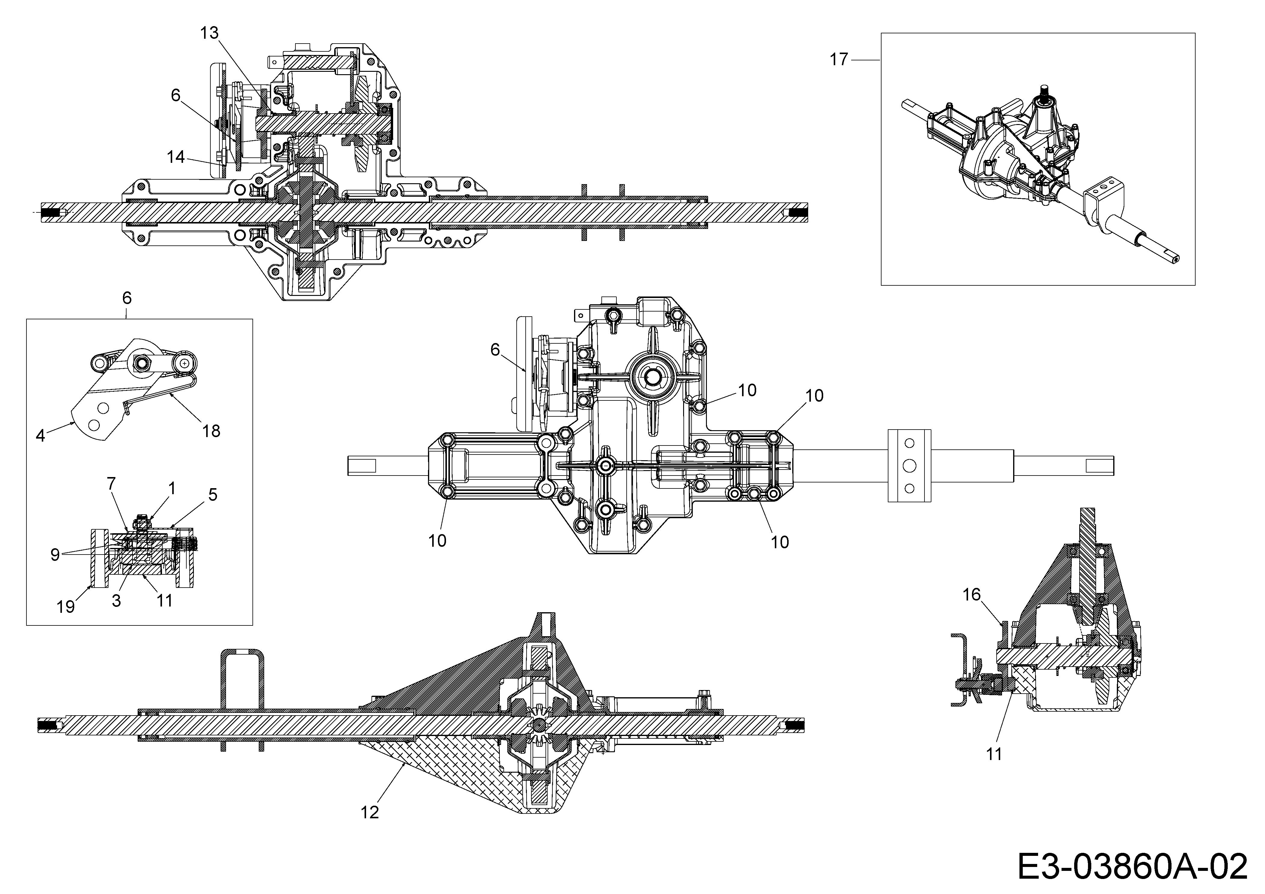 2x Stützrad Deckrad passend Sunline RTH 155//105 13AM783N685 Rasentraktor