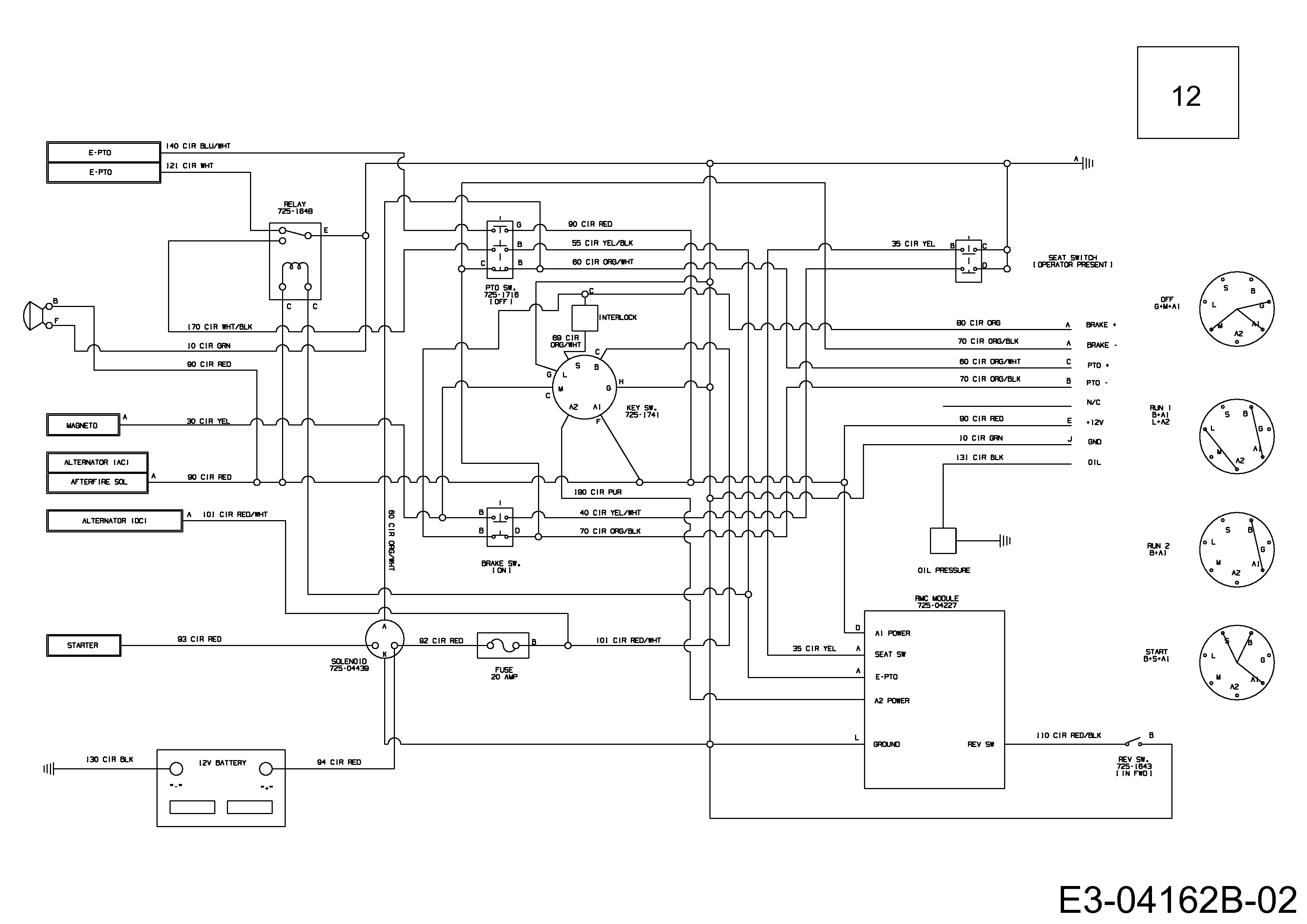 Massey Ferguson MF 50-22 FMZ Schaltplan 17AI4BFP695 (2009)