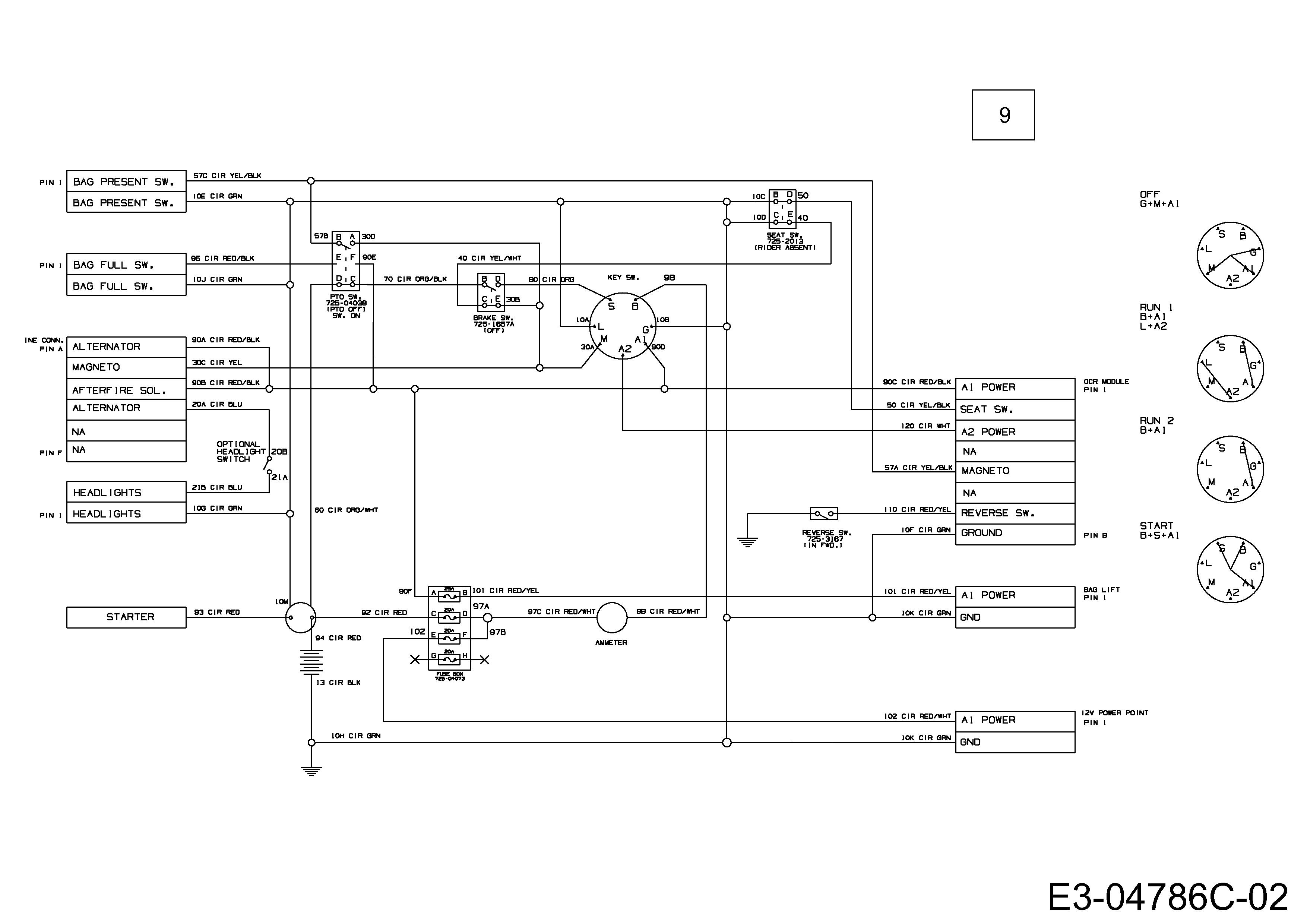 Gutbrod GLX 105 RH Schaltplan 13DJ51GN690 (2012)