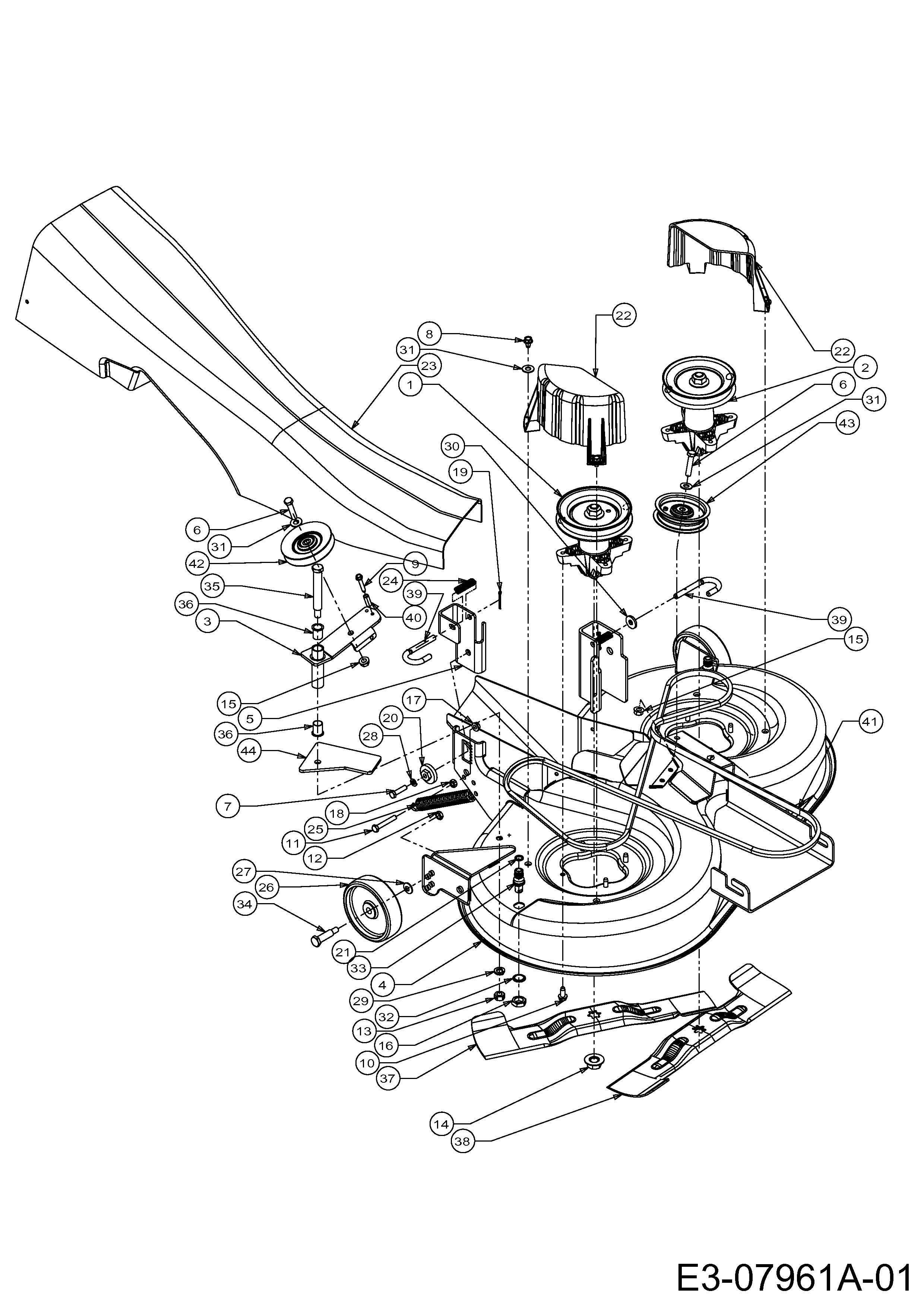 MTD 754-0632 2002 bis 2002 Mähwerk Keilriemen für SE 135 A  13AA508E678