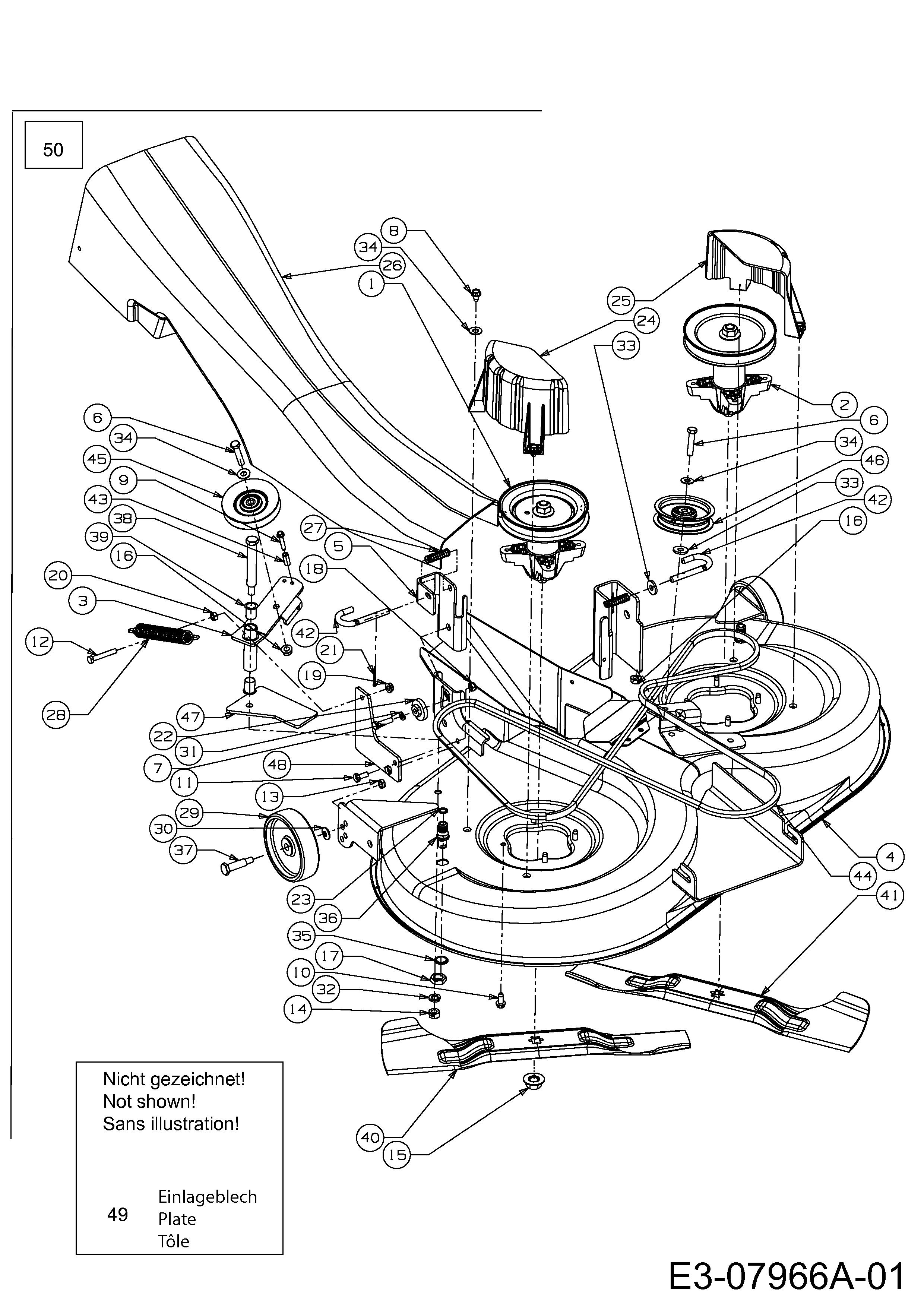 Keilriemen Mähwerk passend Gutbrod GLX 105 RH 13AV51GN490 Rasentraktor
