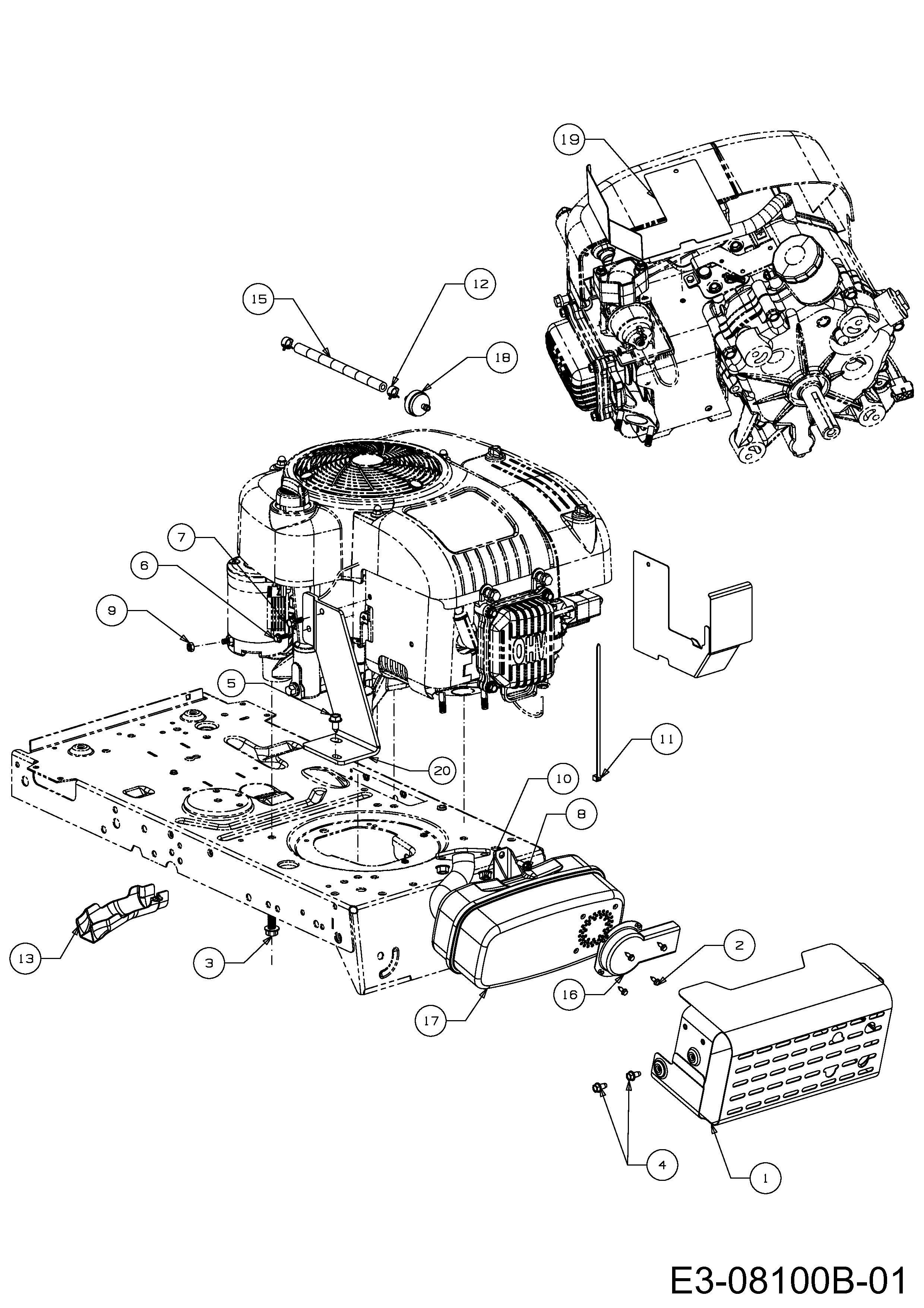 MTD DL 92 T Motorzubehör 13H2765E676 (2014)