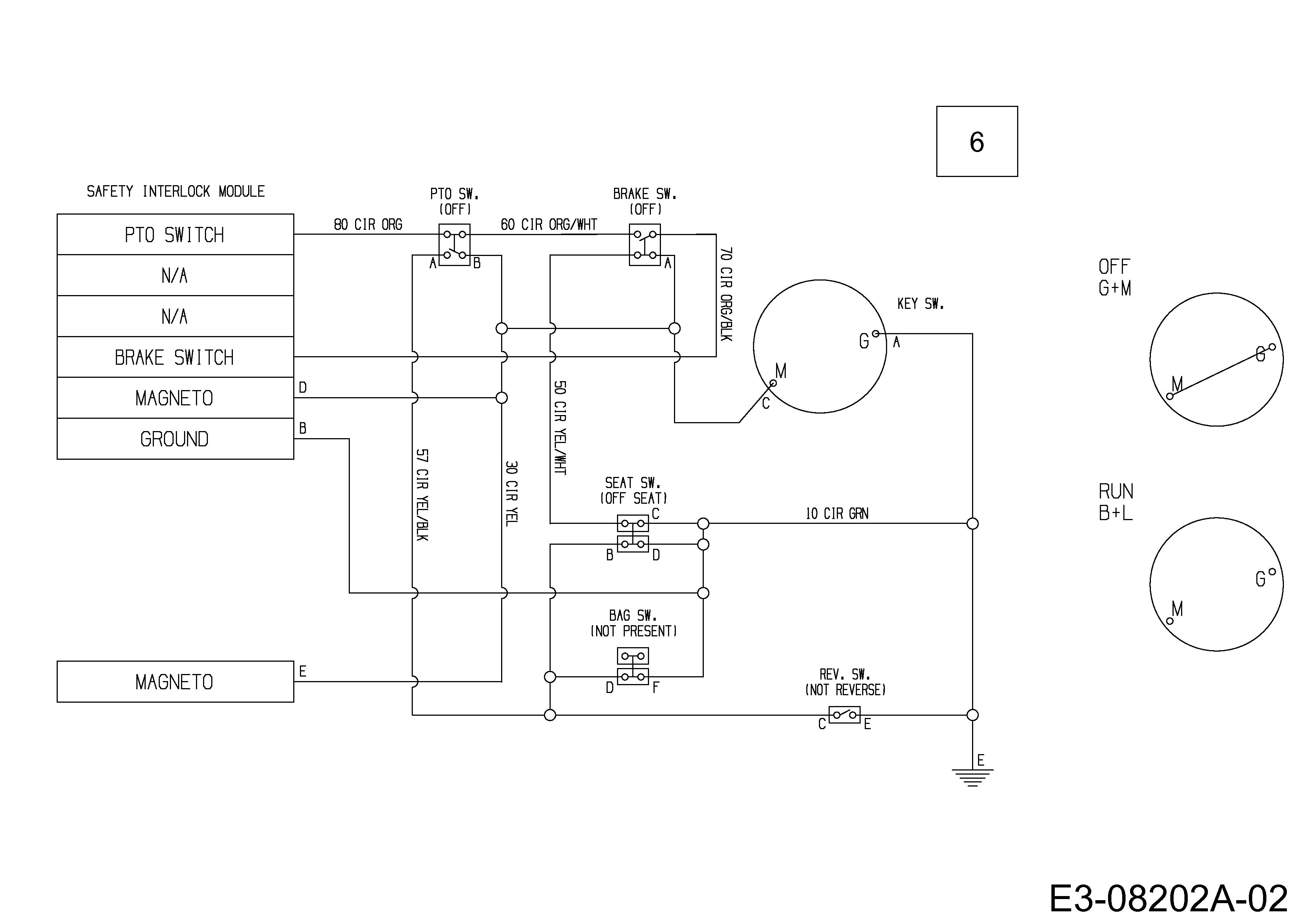 MTD Minirider 60 RD Schaltplan 13A625EC600 (2013)