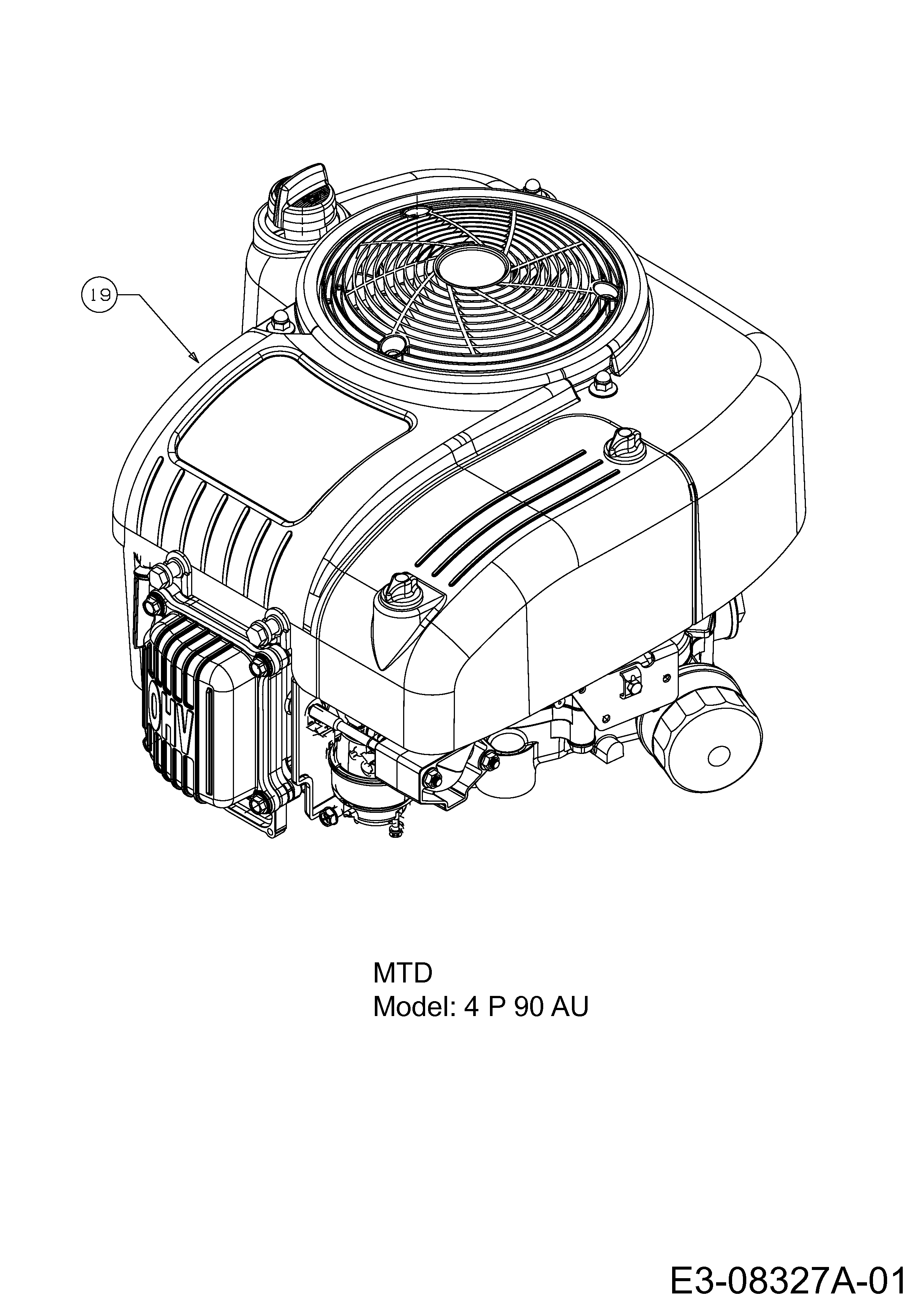 Mtd Smart Rf 125 M Motor 13c2765f600 2014 Engine Diagram