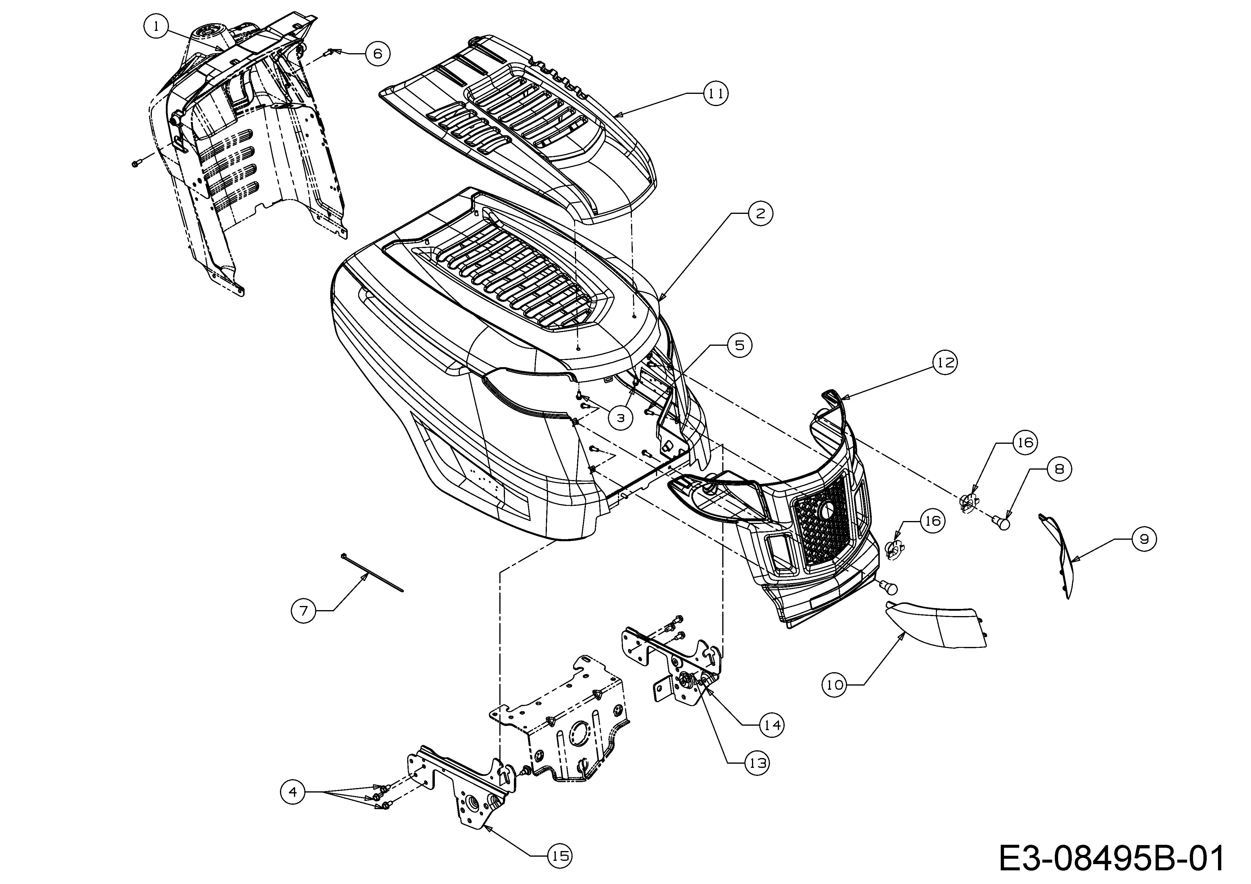 MTD 547/42 Motorhaube K-Style 13A877KS308 (2018)