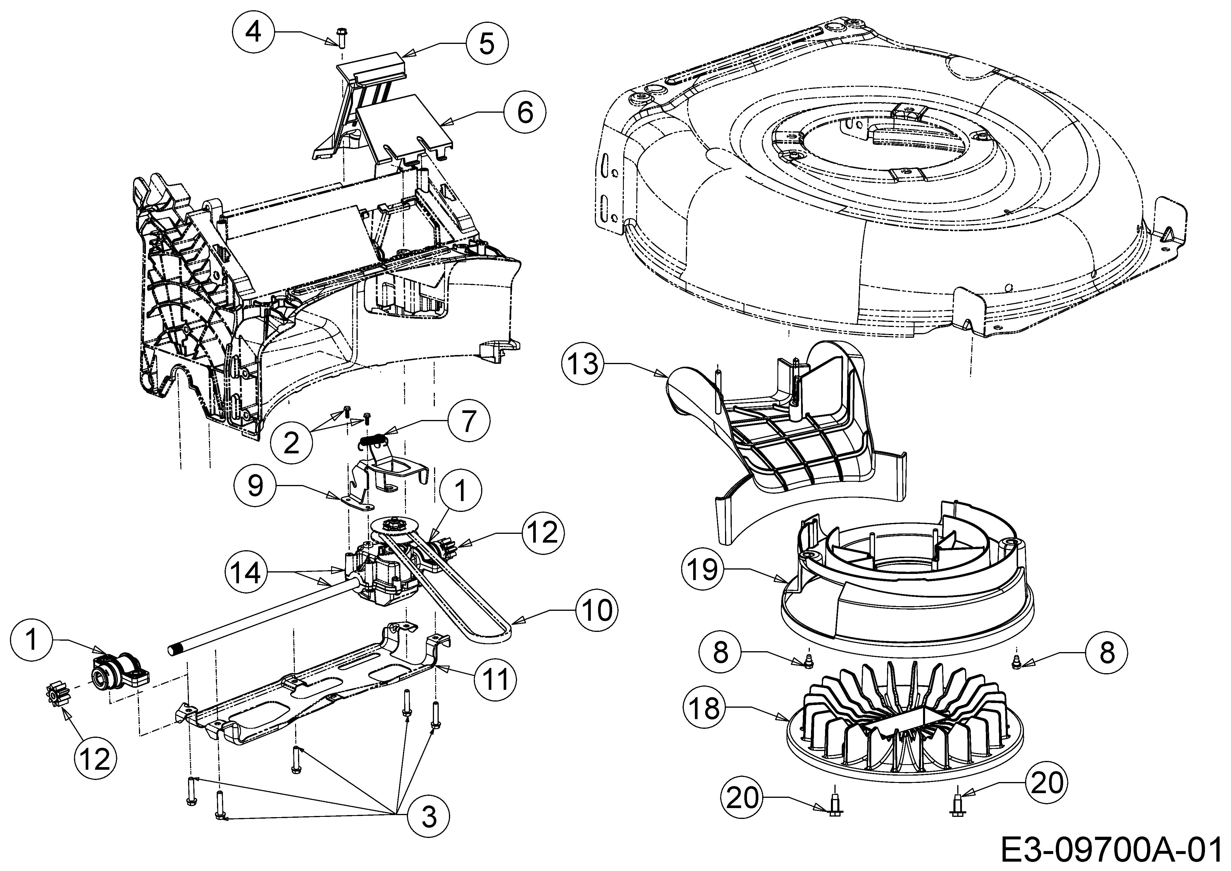 Wolf Garten A 530 Ahw Getriebe Keilriemen Lfterrad 12b Pvkc650 2016 Case Engine Diagram Ersatzteile