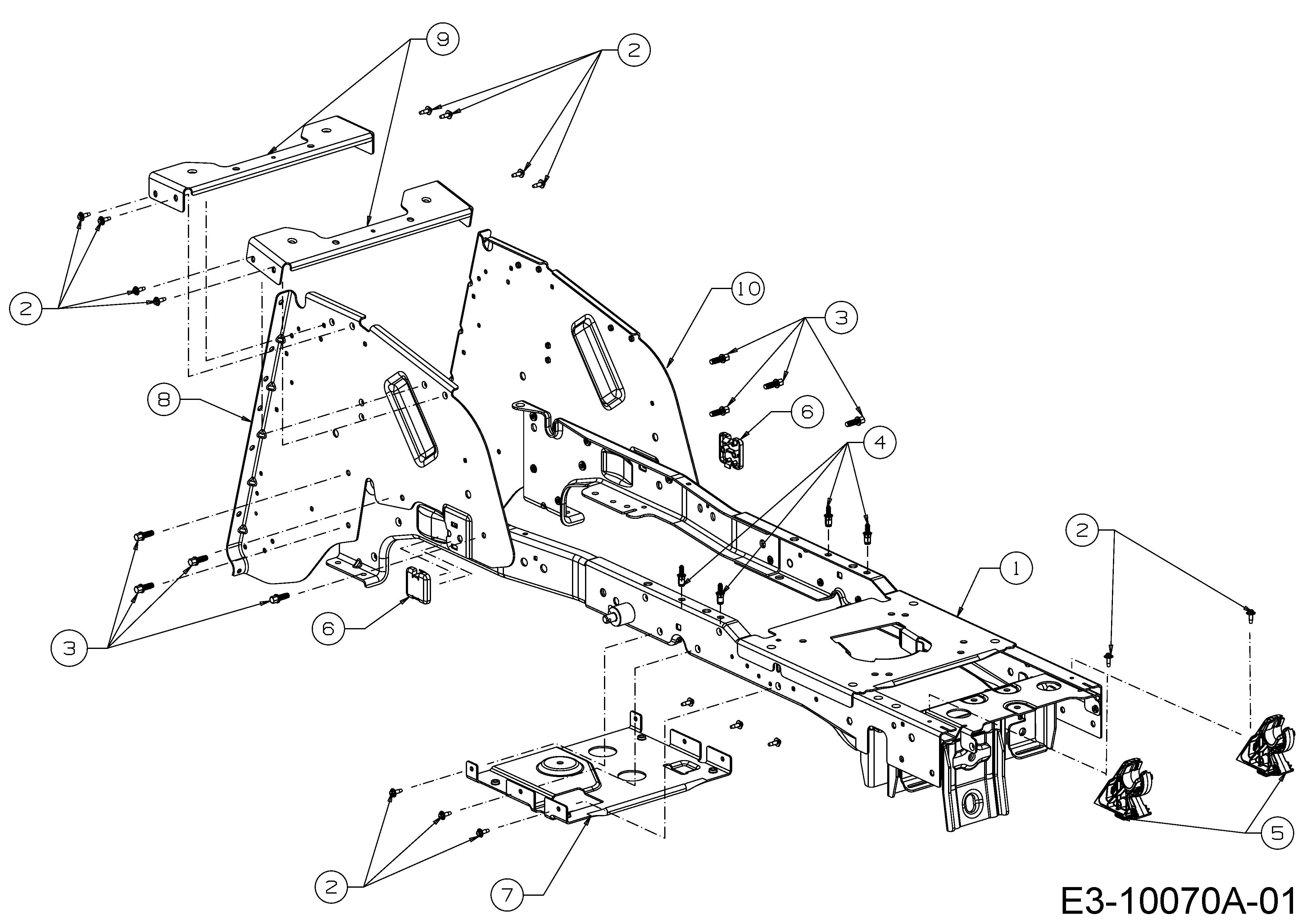 WOLF-Garten Expert Alpha 106.185 H Rahmen 13ALA1VR650 (2017)