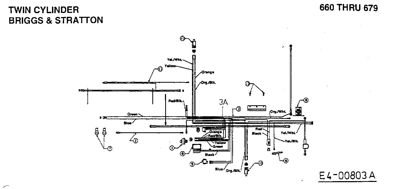 MTD H/165 Schaltplan 2 Zylinder 13AO698G678 (1999)