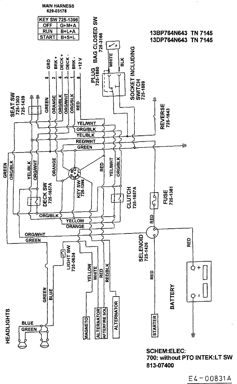 Gutbrod Sprint 2000 Schaltplan 13AN76GN604 (2001)