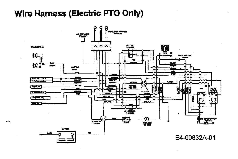 MTD EH 155 Schaltplan Elektromagnetkupplung 13AD795N678 (1997)