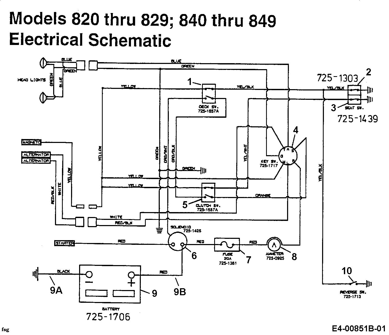 MTD G 185 Schaltplan 14AJ848H678 (1999)