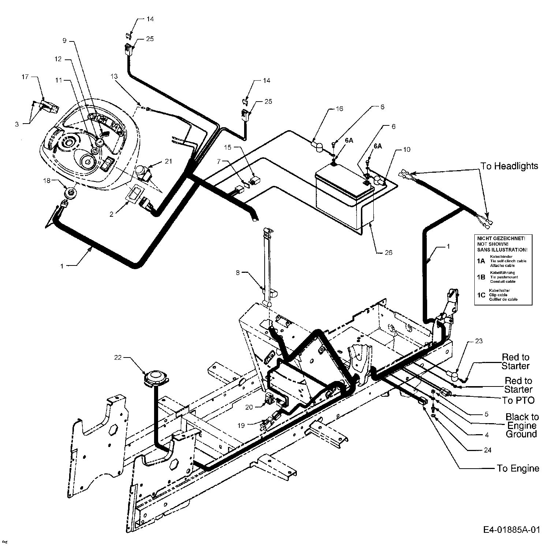 cub cadet lt1042 wiring schematic